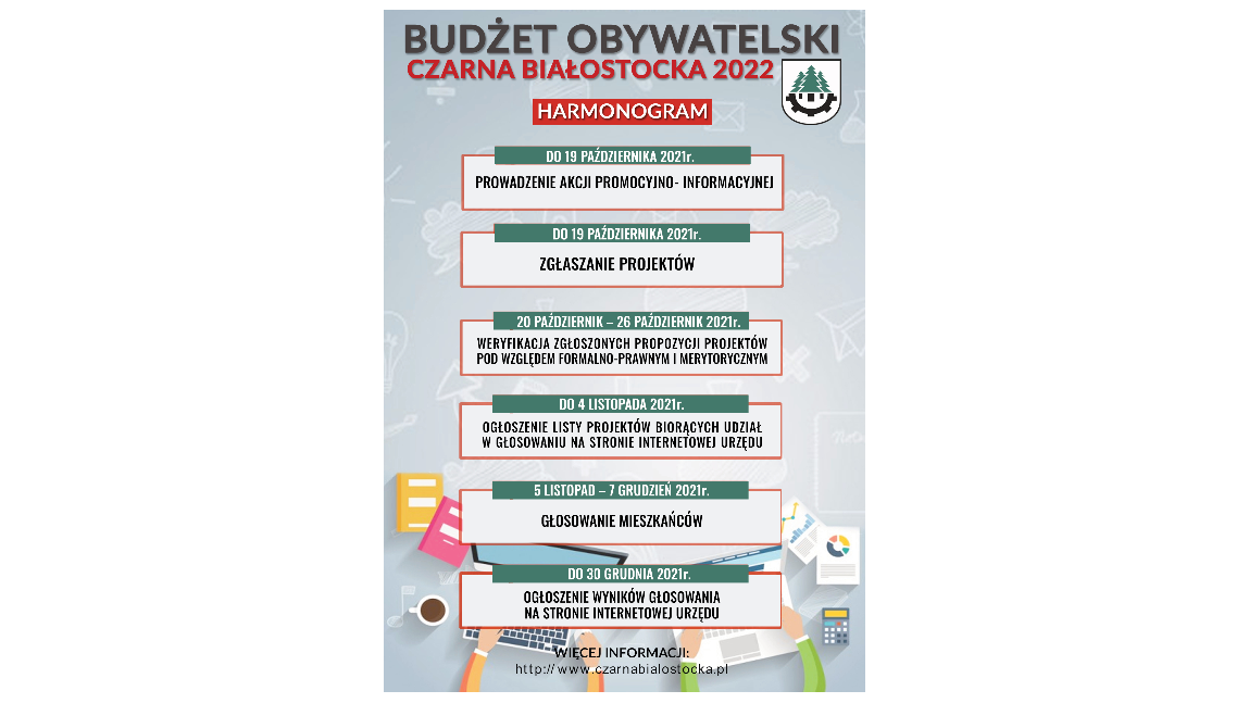 Zaktualizowany harmonogram Budżetu Obywatelskiego 2022